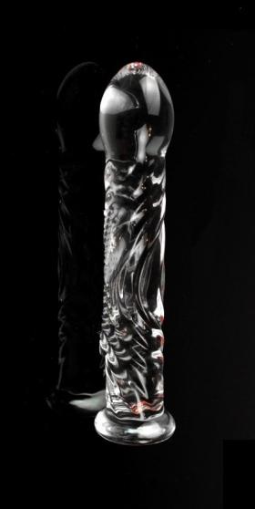 Фаллоимитатор с рельефным рисунком стекло