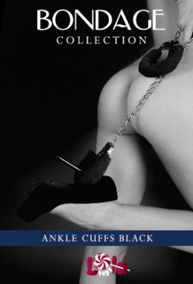 Меховые оковы на ноги BONDAGE, черные
