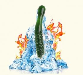 Фаллоимитатор зеленый, стекло